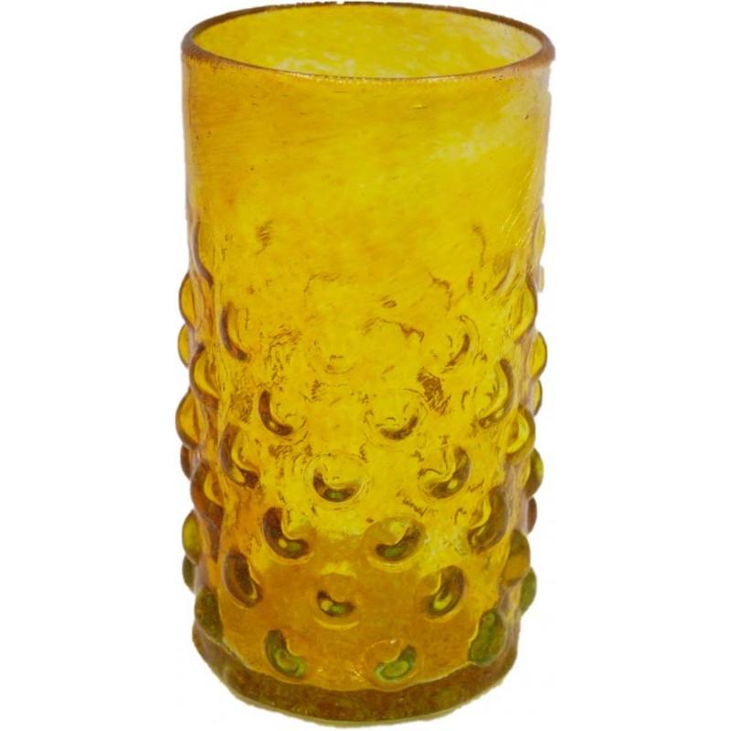 Verre à bulles jaune