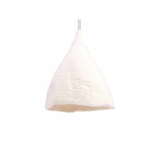 WHITE CONICAL LAMPSHADE
