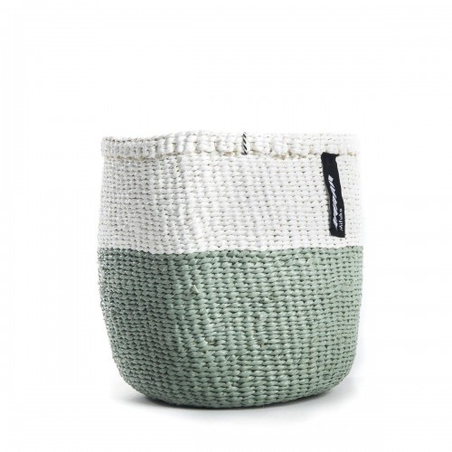 White and light green MIFUKO basket