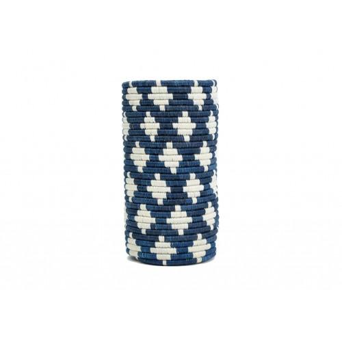 Vase bleu foncé