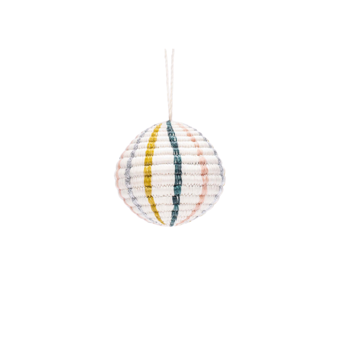 Globe Blush Metallic Ornament