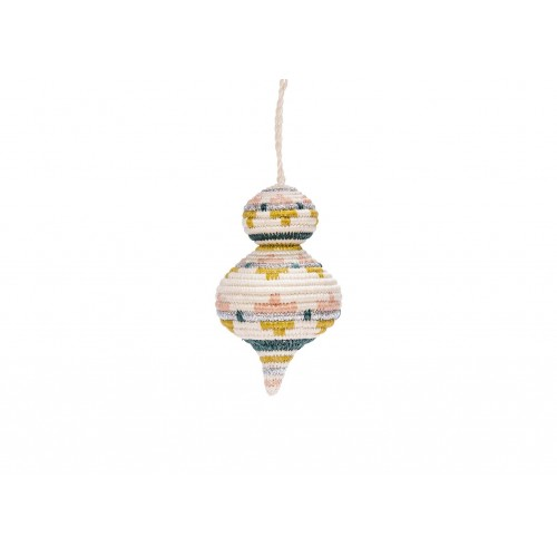 Rounded Blush Metallic Ornament