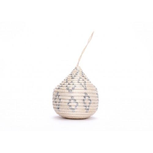 Globe Silver Bulb Ornament