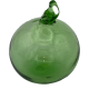 Green Blown glass ball