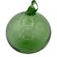 Boule en verre soufflé vert