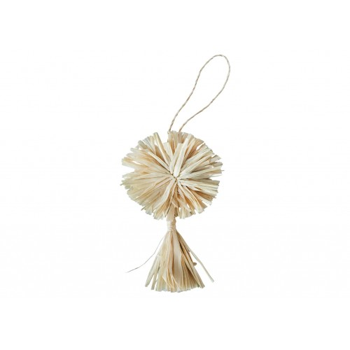 Natural Pom Pom + Tassel Ornament