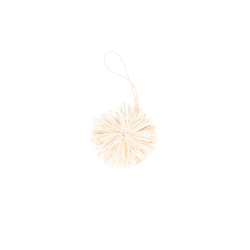 Natural Pom Pom Ornament