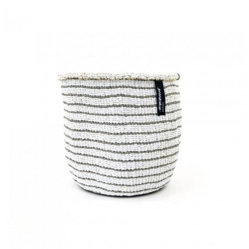 Soft grey stripe MIFUKO basket