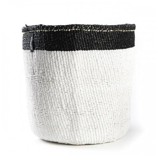 Panière MIFUKO blanc et noir